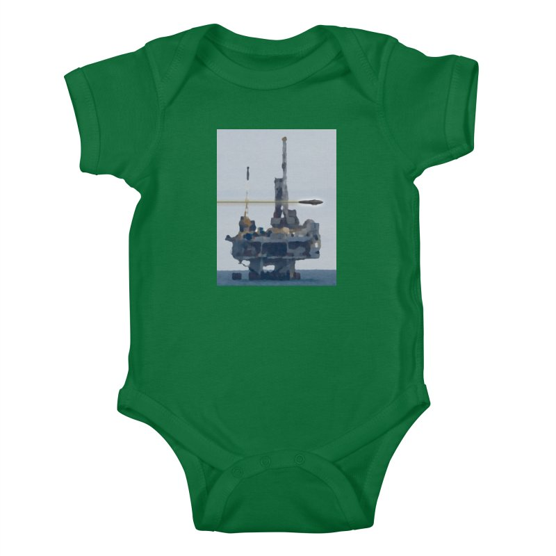 Oily - Art Only Kids Baby Bodysuit by Spaceboy Books LLC's Artist Shop