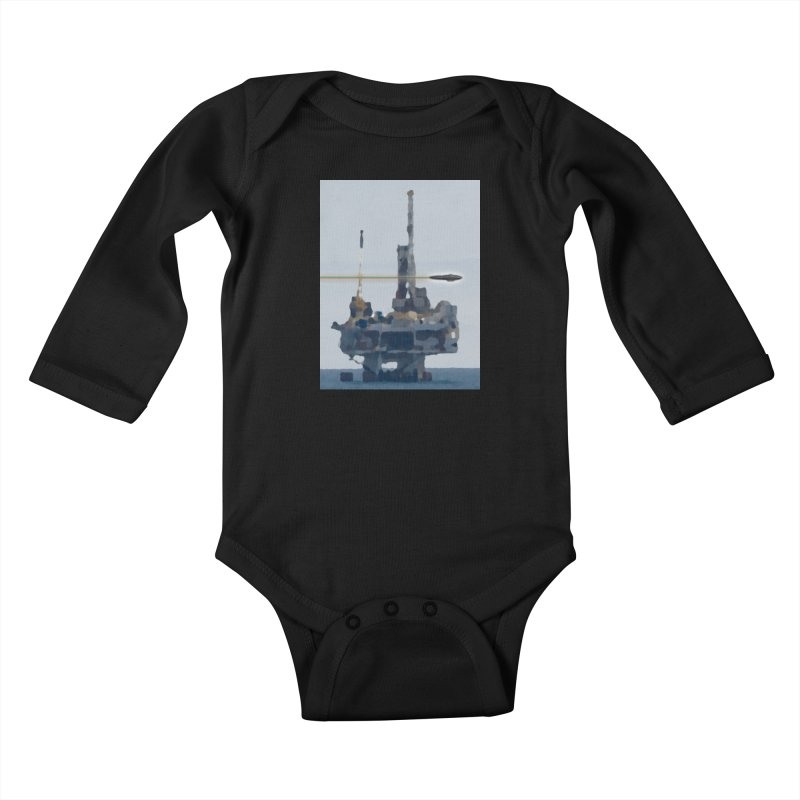 Oily - Art Only Kids Baby Longsleeve Bodysuit by Spaceboy Books LLC's Artist Shop