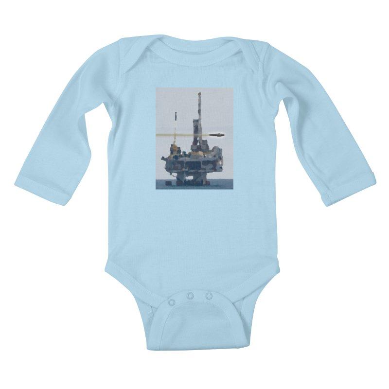 Oily - Art Only Kids Baby Longsleeve Bodysuit by Spaceboy Books LLC's Artist Shop