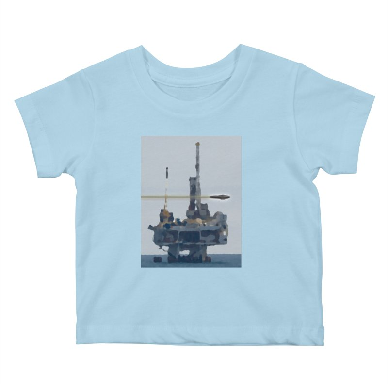 Oily - Art Only Kids Baby T-Shirt by Spaceboy Books LLC's Artist Shop