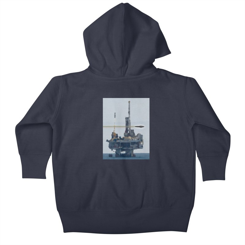 Oily - Art Only Kids Baby Zip-Up Hoody by Spaceboy Books LLC's Artist Shop