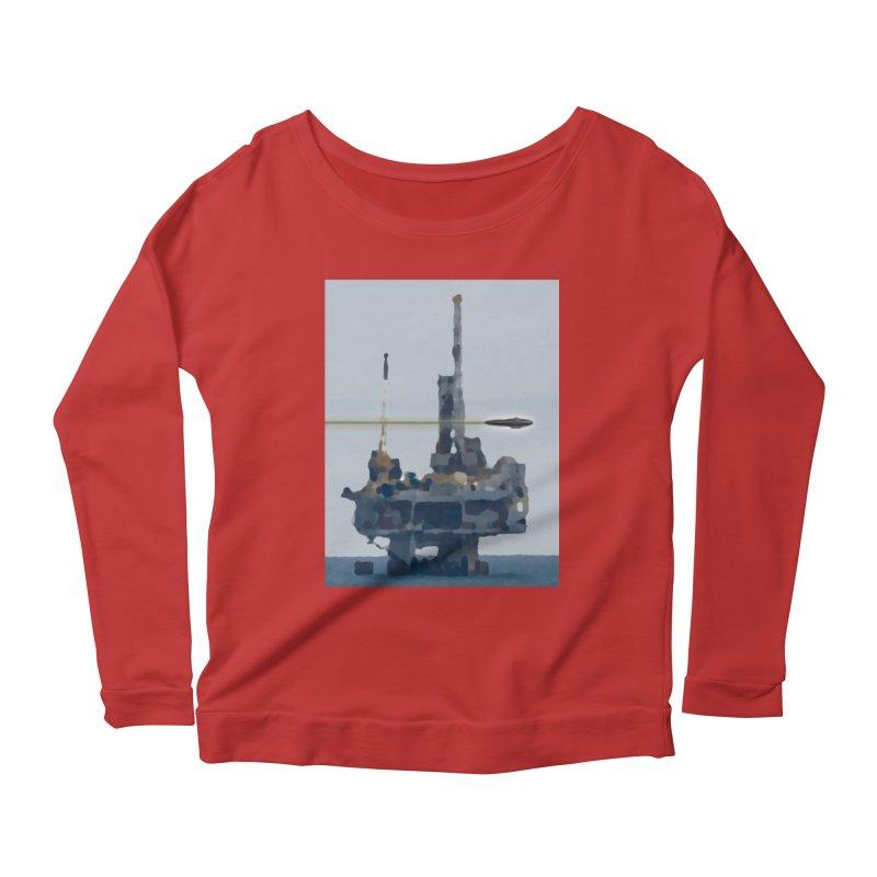 Oily - Art Only Women's Scoop Neck Longsleeve T-Shirt by Spaceboy Books LLC's Artist Shop