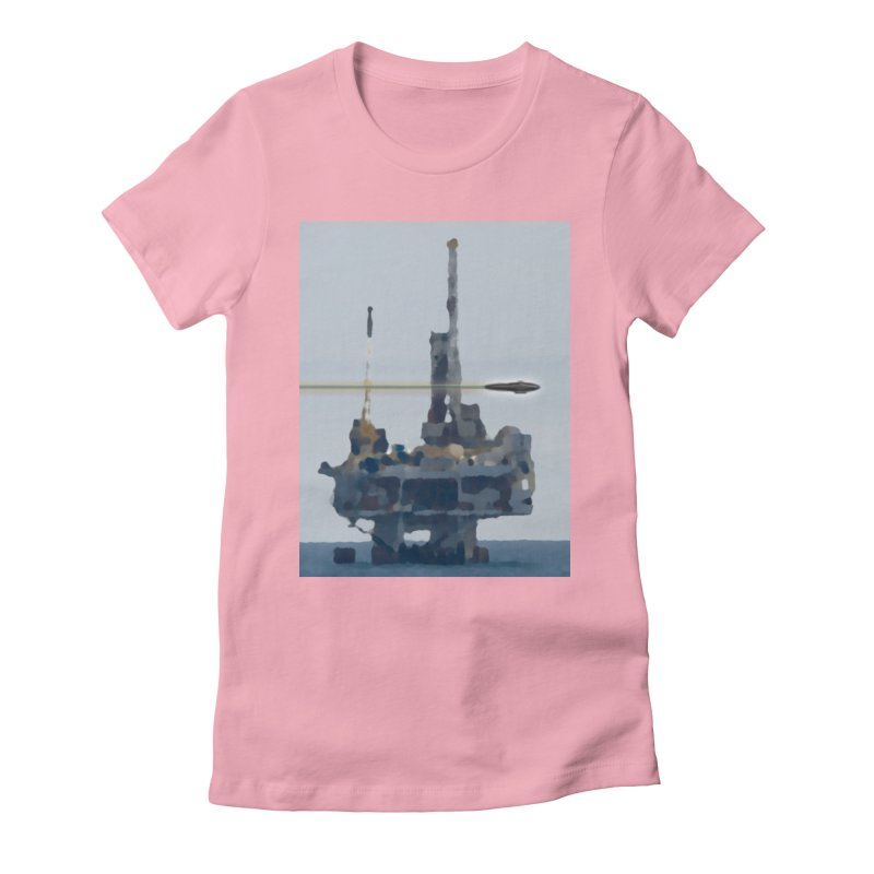 Oily - Art Only Women's Fitted T-Shirt by Spaceboy Books LLC's Artist Shop