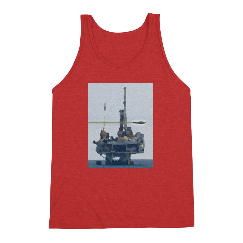 Oily - Art Only Men's Triblend Tank by Spaceboy Books LLC's Artist Shop