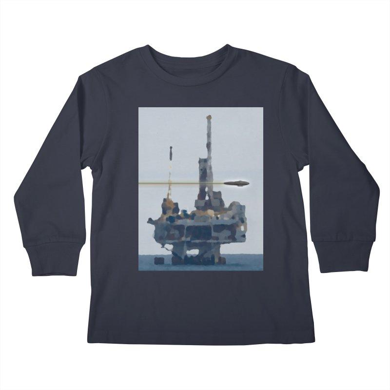 Oily - Art Only Kids Longsleeve T-Shirt by Spaceboy Books LLC's Artist Shop