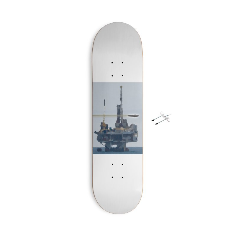 Oily - Art Only Accessories With Hanging Hardware Skateboard by Spaceboy Books LLC's Artist Shop