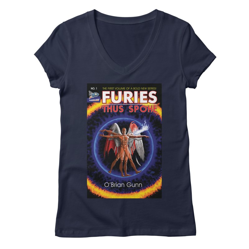 Furies: Thus Spoke (Full Cover) Women's Regular V-Neck by Spaceboy Books LLC's Artist Shop