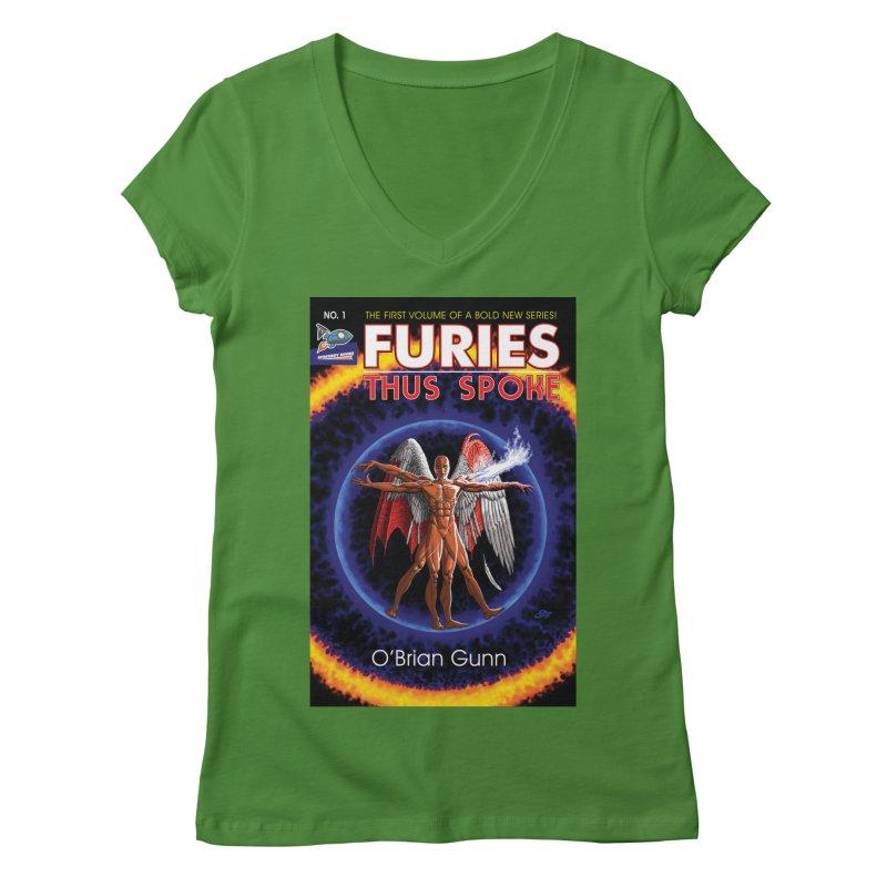 Furies: Thus Spoke (Full Cover) Women's Regular V-Neck by Spaceboy Books LLC's Artist Shop