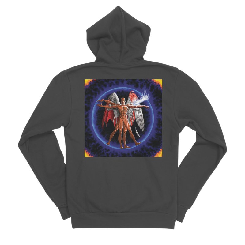 Furies: Thus Spoke (Vitruvian) Women's Sponge Fleece Zip-Up Hoody by Spaceboy Books LLC's Artist Shop