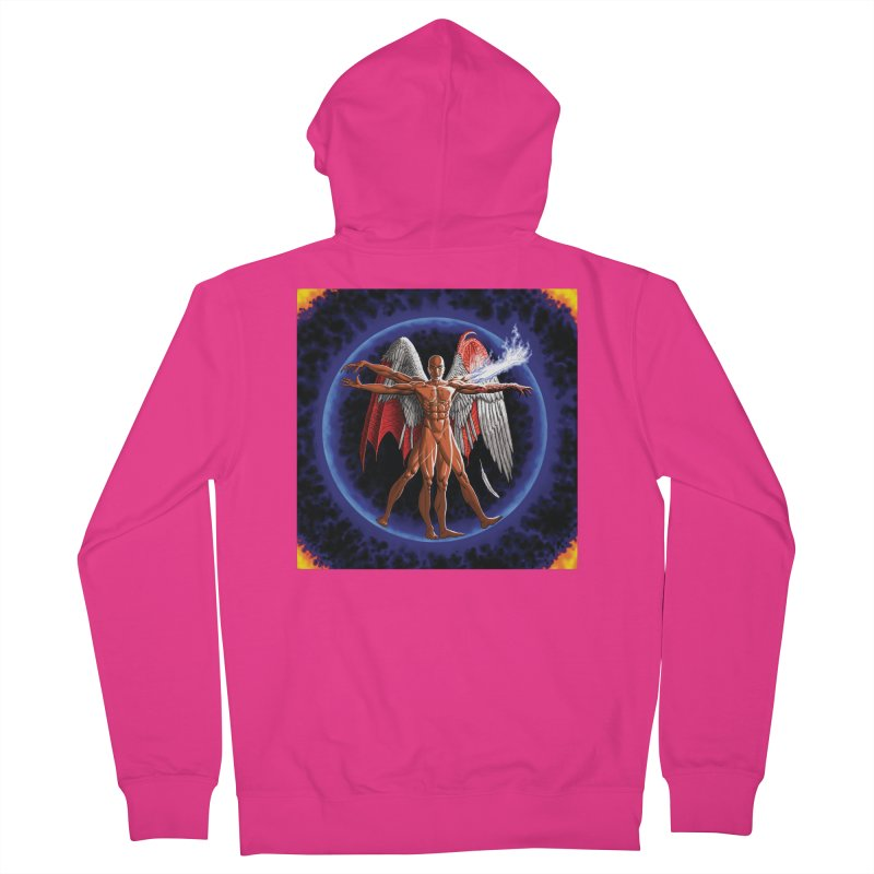 Furies: Thus Spoke (Vitruvian) Men's French Terry Zip-Up Hoody by Spaceboy Books LLC's Artist Shop