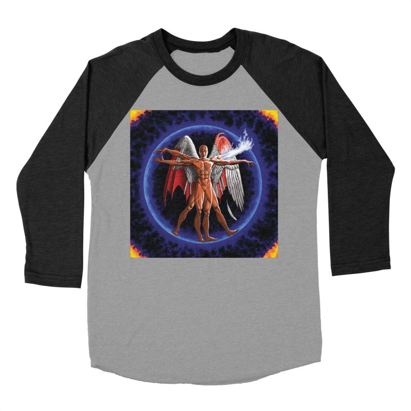 Furies: Thus Spoke (Vitruvian) Men's Baseball Triblend Longsleeve T-Shirt by Spaceboy Books LLC's Artist Shop