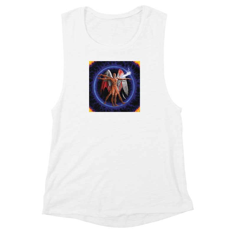 Furies: Thus Spoke (Vitruvian) Women's Muscle Tank by Spaceboy Books LLC's Artist Shop
