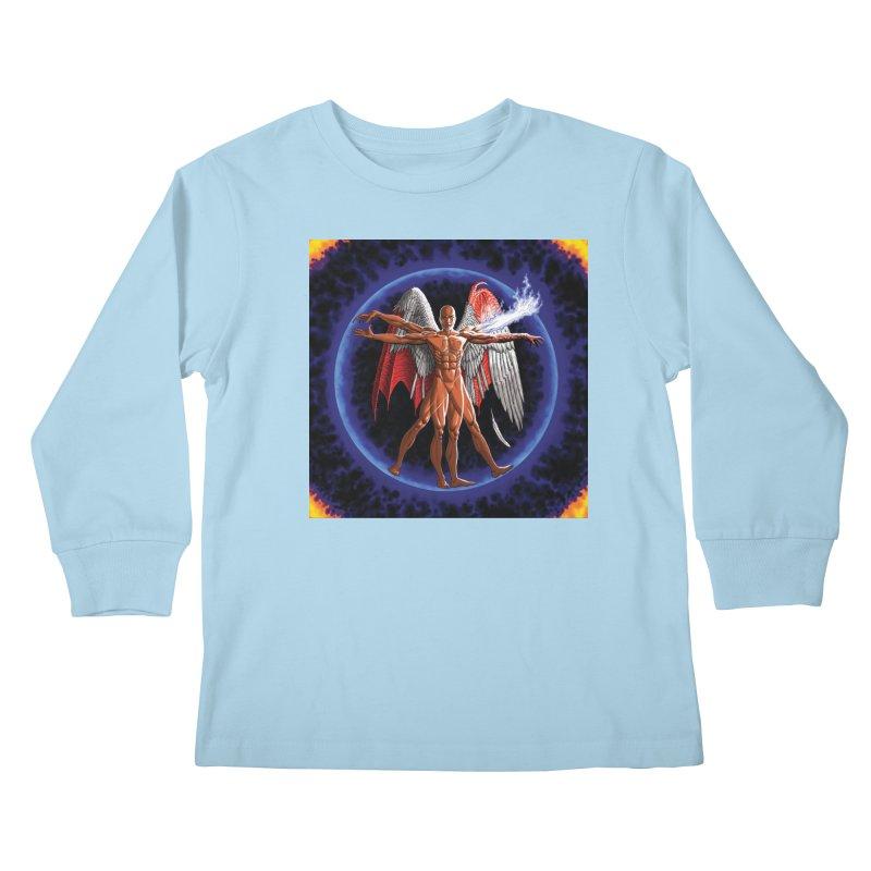 Furies: Thus Spoke (Vitruvian) Kids Longsleeve T-Shirt by Spaceboy Books LLC's Artist Shop