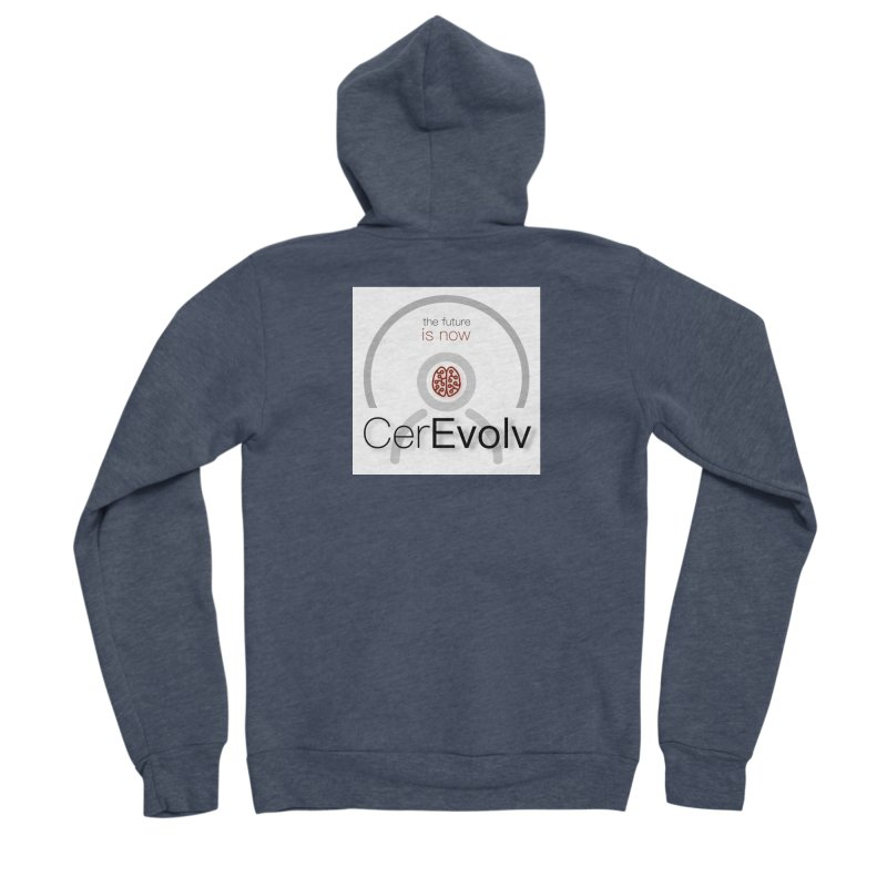 CerEvolv Logo (We Lost the Sky) Women's Sponge Fleece Zip-Up Hoody by Spaceboy Books LLC's Artist Shop