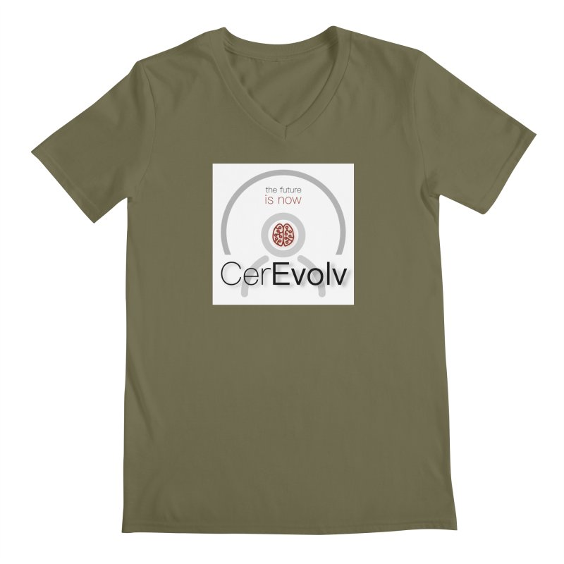 CerEvolv Logo (We Lost the Sky) Men's Regular V-Neck by Spaceboy Books LLC's Artist Shop
