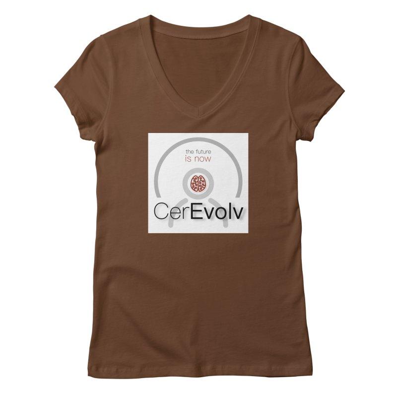 CerEvolv Logo (We Lost the Sky) Women's Regular V-Neck by Spaceboy Books LLC's Artist Shop