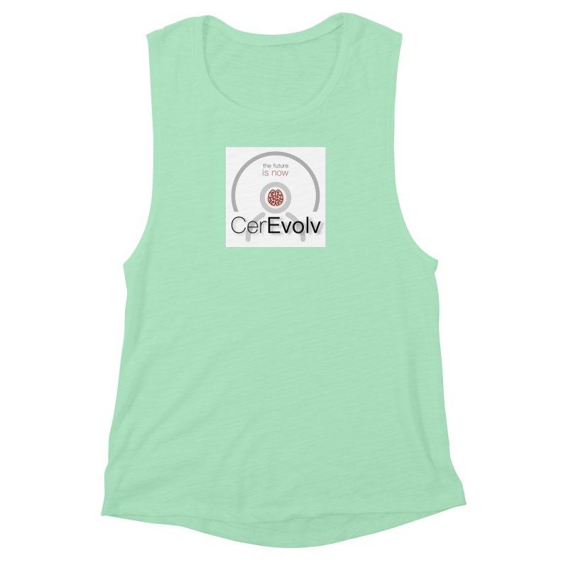 CerEvolv Logo (We Lost the Sky) Women's Muscle Tank by Spaceboy Books LLC's Artist Shop