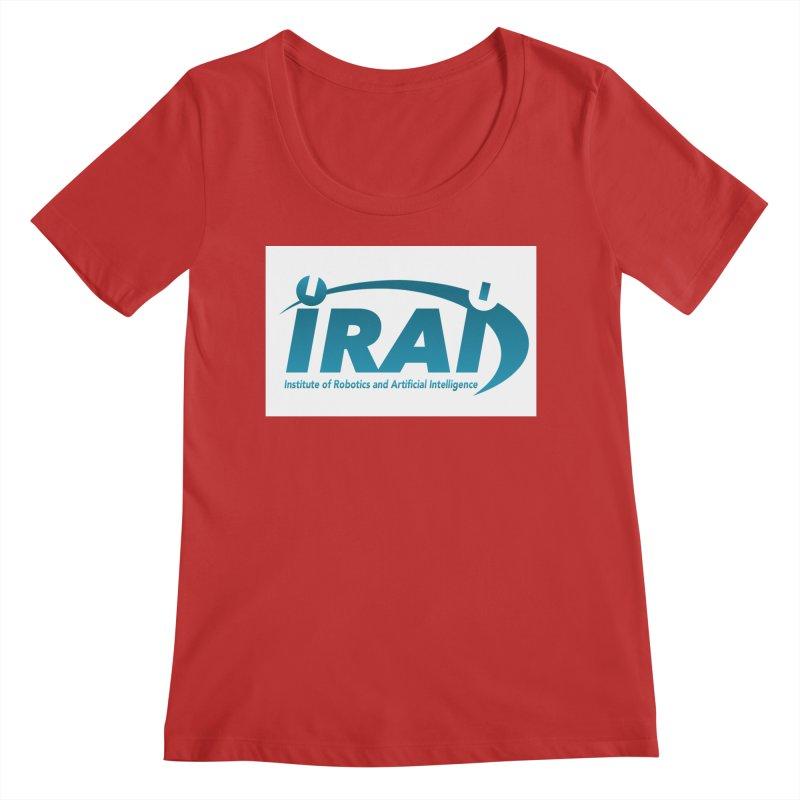 IRAI - Institute of Robotics and Artificial Intelligence Logo (We Lost the Sky) Women's Regular Scoop Neck by Spaceboy Books LLC's Artist Shop