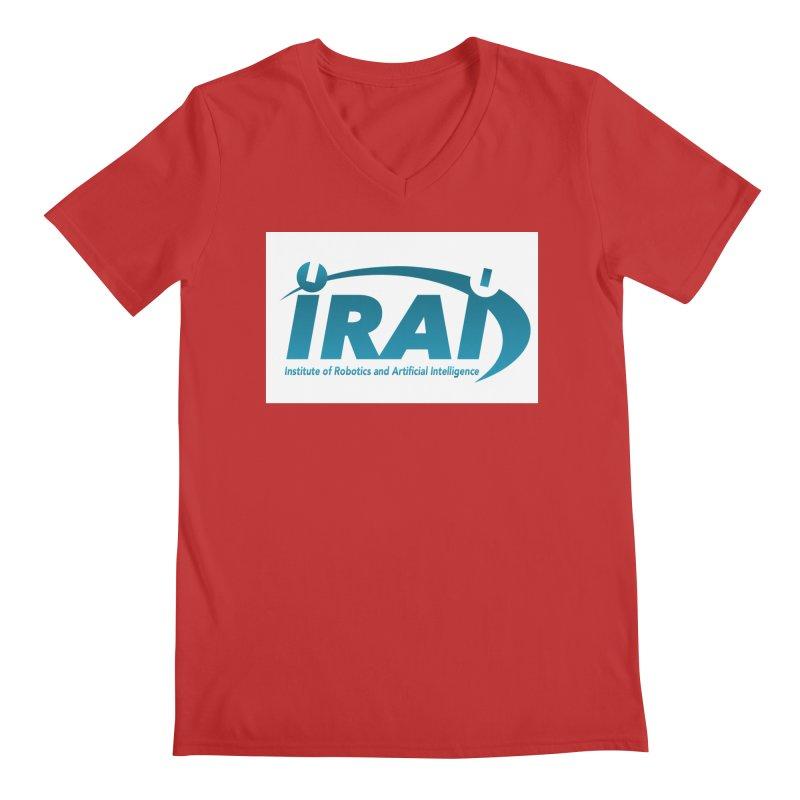 IRAI - Institute of Robotics and Artificial Intelligence Logo (We Lost the Sky) Men's Regular V-Neck by Spaceboy Books LLC's Artist Shop