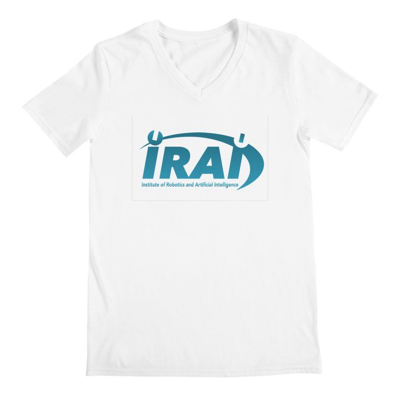 IRAI - Institute of Robotics and Artificial Intelligence Logo (We Lost the Sky) Men's Regular V-Neck by Spaceboy Books LLC's Artist Shop
