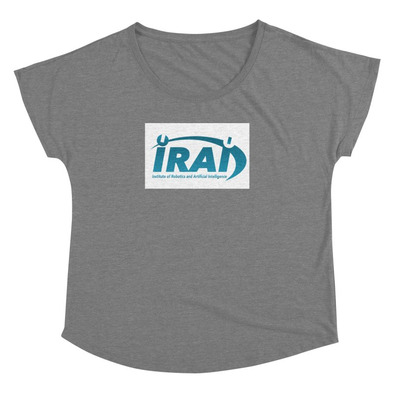 IRAI - Institute of Robotics and Artificial Intelligence Logo (We Lost the Sky) Women's Dolman Scoop Neck by Spaceboy Books LLC's Artist Shop