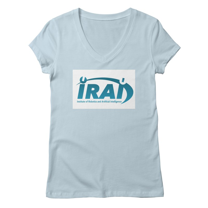IRAI - Institute of Robotics and Artificial Intelligence Logo (We Lost the Sky) Women's Regular V-Neck by Spaceboy Books LLC's Artist Shop