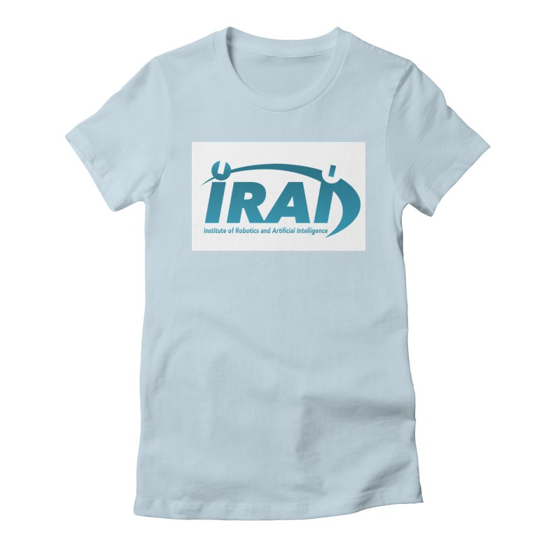 IRAI - Institute of Robotics and Artificial Intelligence Logo (We Lost the Sky) Women's Fitted T-Shirt by Spaceboy Books LLC's Artist Shop
