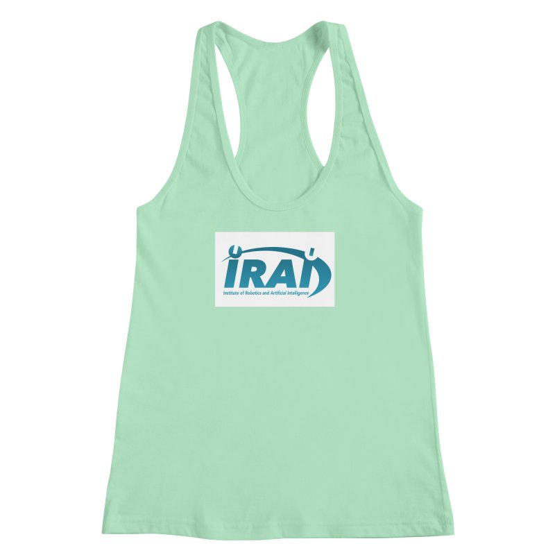 IRAI - Institute of Robotics and Artificial Intelligence Logo (We Lost the Sky) Women's Racerback Tank by Spaceboy Books LLC's Artist Shop