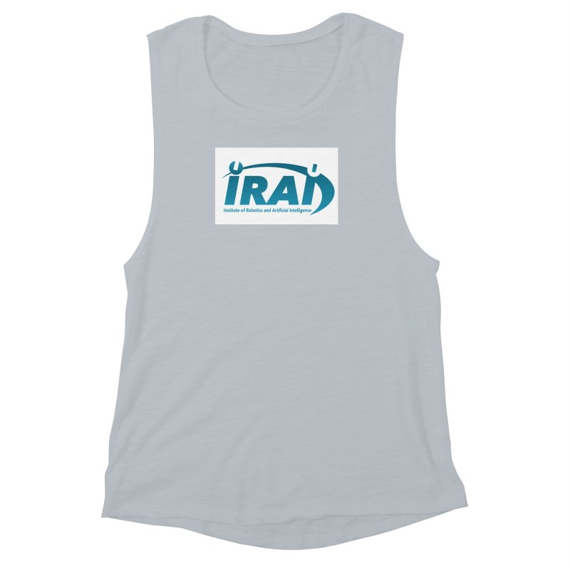 IRAI - Institute of Robotics and Artificial Intelligence Logo (We Lost the Sky) Women's Muscle Tank by Spaceboy Books LLC's Artist Shop