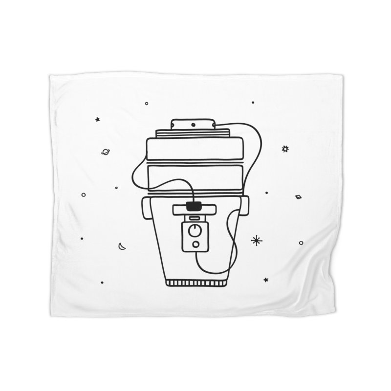 Space Bucket #1 nn Home Fleece Blanket Blanket by spacebuckets's Artist Shop