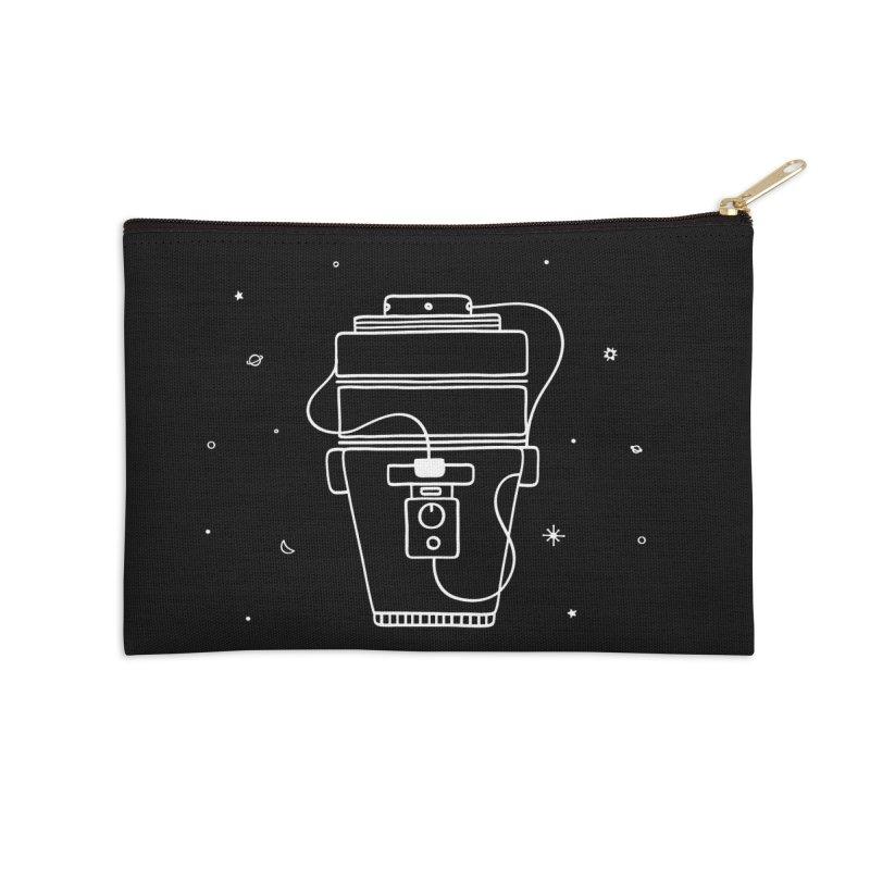 Space Bucket #1 white nn Accessories Zip Pouch by spacebuckets's Artist Shop