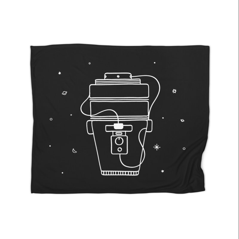 Space Bucket #1 white nn Home Fleece Blanket Blanket by spacebuckets's Artist Shop
