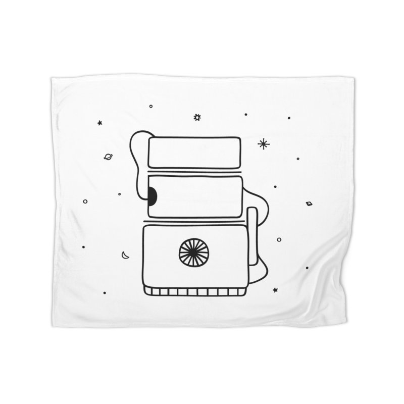 Space Bucket #2 Home Fleece Blanket Blanket by spacebuckets's Artist Shop