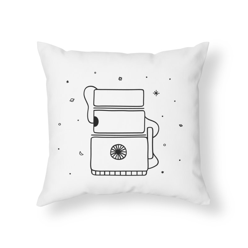 Space Bucket #2 Home Throw Pillow by spacebuckets's Artist Shop