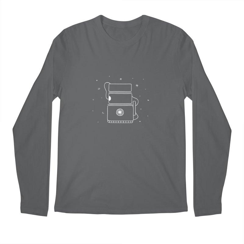 Space Bucket #2 white Men's Longsleeve T-Shirt by spacebuckets's Artist Shop
