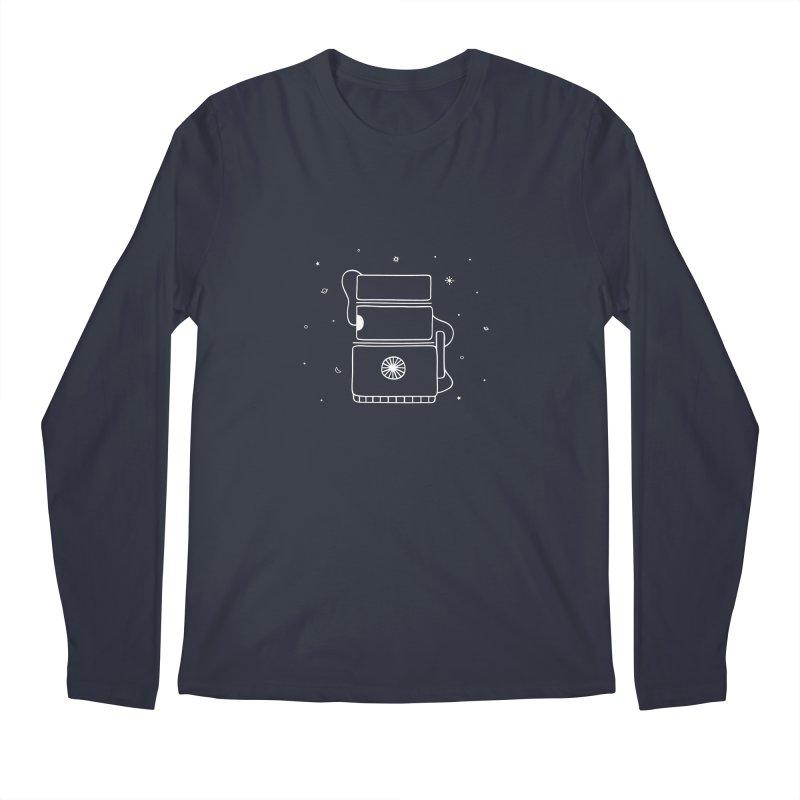 Space Bucket #2 white Men's Regular Longsleeve T-Shirt by spacebuckets's Artist Shop