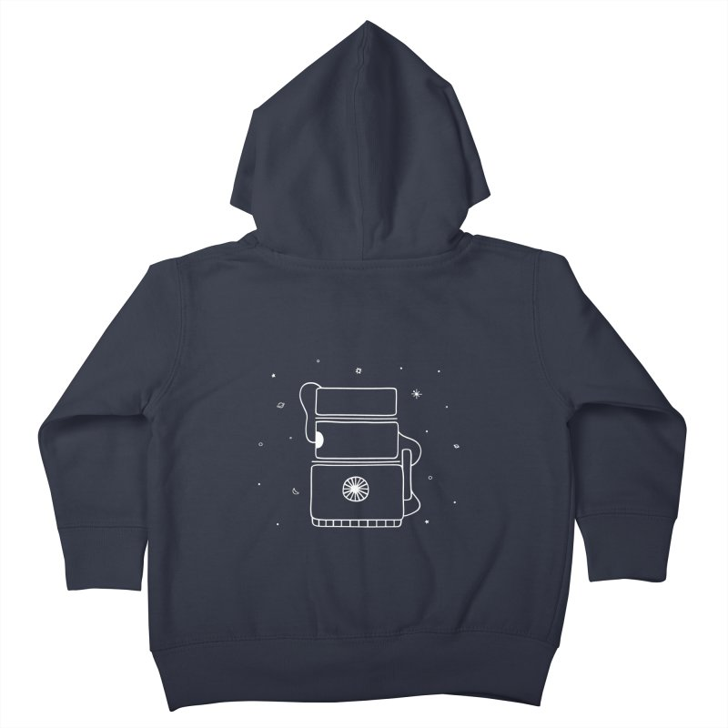 Space Bucket #2 white Kids Toddler Zip-Up Hoody by spacebuckets's Artist Shop