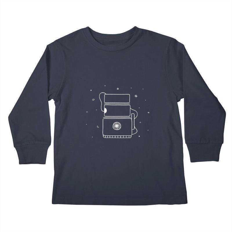 Space Bucket #2 white Kids Longsleeve T-Shirt by spacebuckets's Artist Shop