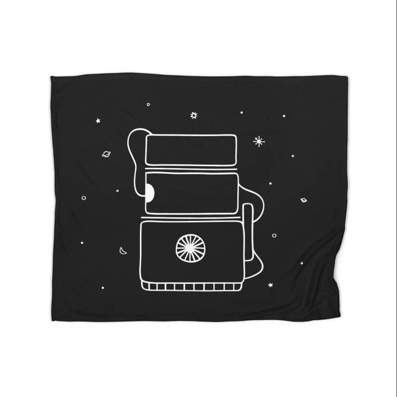 Space Bucket #2 white Home Fleece Blanket Blanket by spacebuckets's Artist Shop