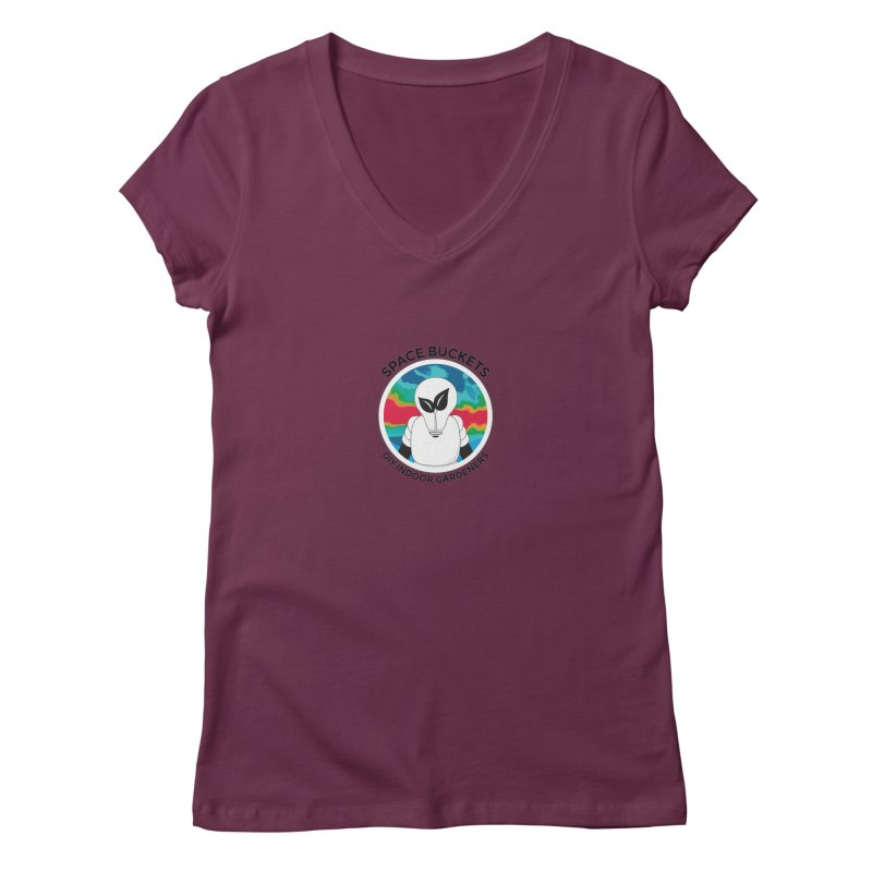 SB logo black Women's V-Neck by spacebuckets's Artist Shop