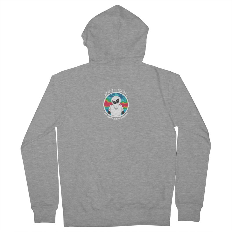 SB logo white Women's Zip-Up Hoody by spacebuckets's Artist Shop