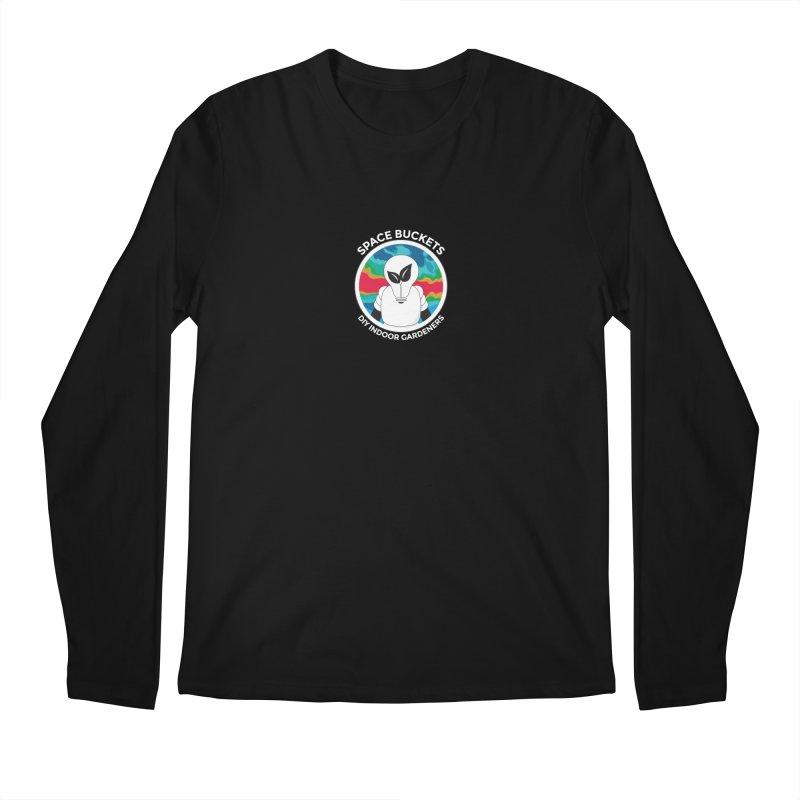 SB logo white Men's Regular Longsleeve T-Shirt by spacebuckets's Artist Shop