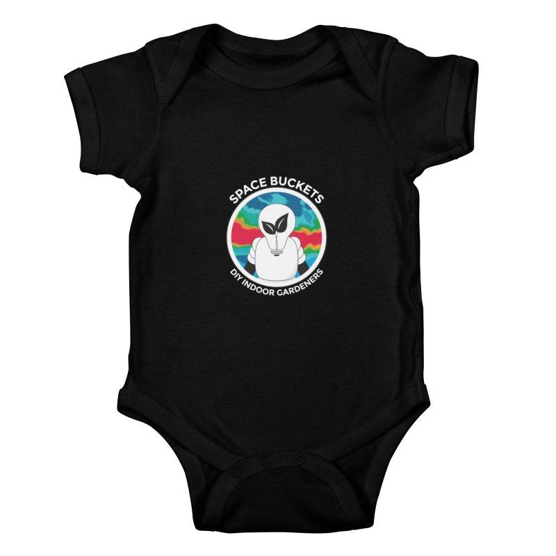 SB logo white Kids Baby Bodysuit by spacebuckets's Artist Shop