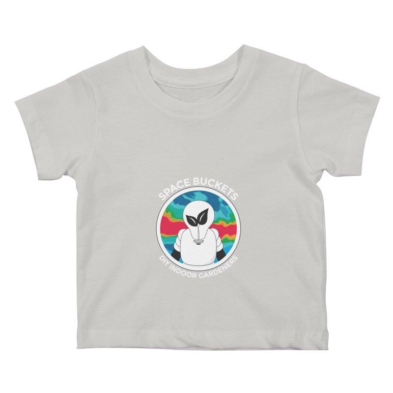 SB logo white Kids Baby T-Shirt by spacebuckets's Artist Shop