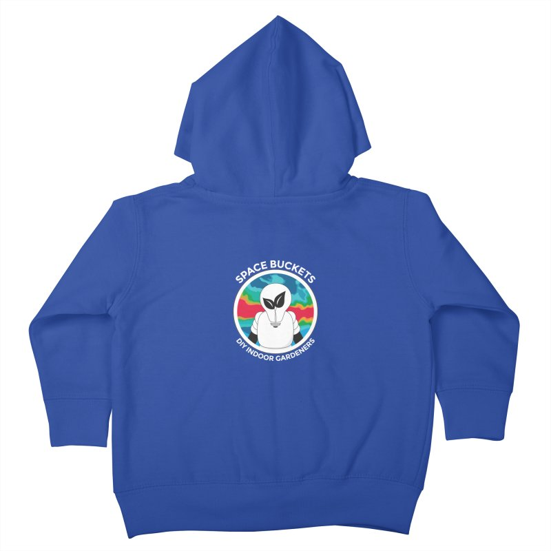 SB logo white Kids Toddler Zip-Up Hoody by spacebuckets's Artist Shop
