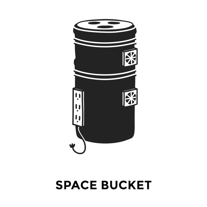 Space Bucket - Original Men's Longsleeve T-Shirt by spacebuckets's Artist Shop