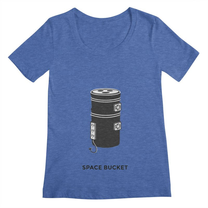Space Bucket - Original Women's Scoopneck by spacebuckets's Artist Shop