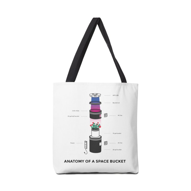 Anatomy of a Space Bucket Accessories Tote Bag Bag by spacebuckets's Artist Shop