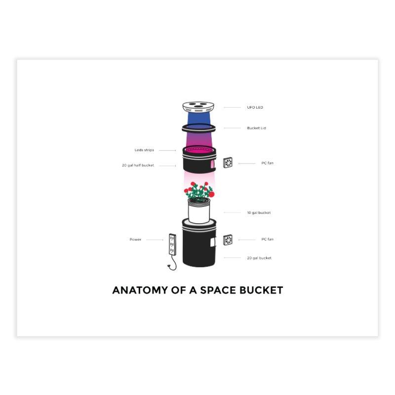 Anatomy of a Space Bucket Home Fine Art Print by spacebuckets's Artist Shop