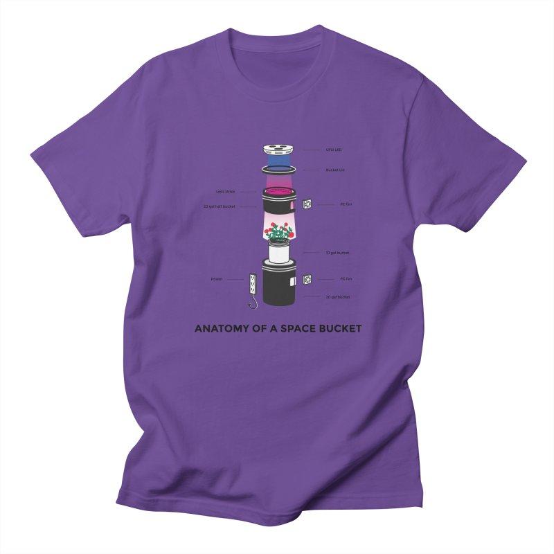 Anatomy of a Space Bucket Men's T-shirt by spacebuckets's Artist Shop
